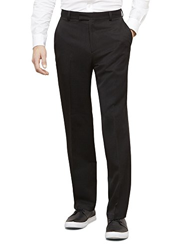 Kenneth+Cole+Reaction+Men%27s+Textured+Stria+Flat+Front+Pant%2C+Black%2C+32x29