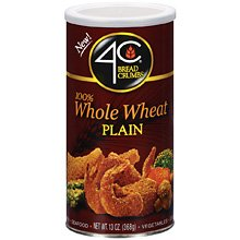 Whole Wheat Bread Crumbs - 13oz. Plain by 4C (Bread Whole 100 Crumbs Wheat)