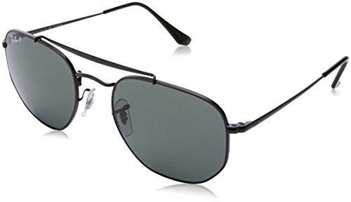 Ray-Ban Metal Unisex Polarized Square Sunglasses, Black, 54 - Eye Ban Wear Ray