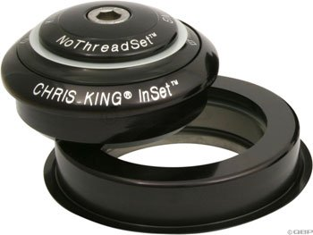 (Chris King Inset 2 Headset Bold Black, Tapered)