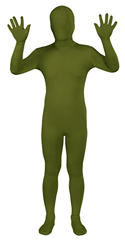 Sheface Spandex Full Bodysuit Zentai Costume (Medium, Army Green) -