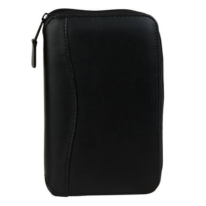 Pocket Planning System Vinyl Zipper Binder - Black (Franklin Covey Black Pocket)