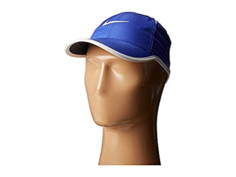 Amazon.com   Nike Featherlight Cap Paramount Blue Black White White  Baseball Caps   Everything Else 365a13ba5db