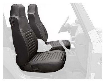 Bestop 29228-35 Black Diamond Front High Back Seat Cover Set for 03-06 Wrangler & Unlimited by Bestop