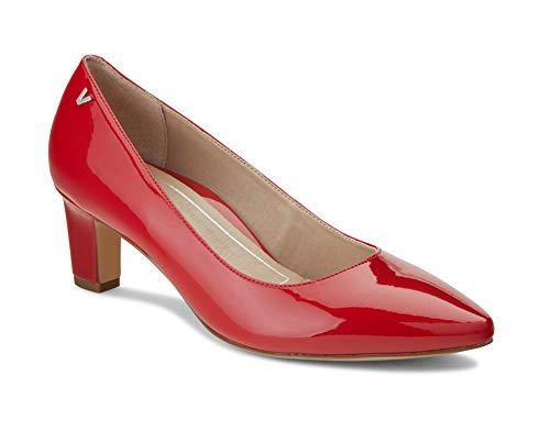 Patent Red Leather Pumps - Vionic Women's Madison Mia Heels - Ladies Pumps with Concealed Orthotic Support Cherry Patent 9.5 M US