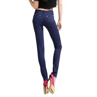 Laisla fashion Pantalon Slim pour Femmes Jeans Legging Leggings Pantalons  Jeans Classique Legging Treggings Pantalon Couleur 669af6cfaca