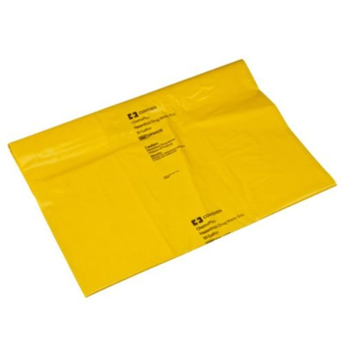 Covidien DP5043B ChemoPlus Chemo Soft Waste Bag, 30 gal Capacity, Yellow (Pack of 100)