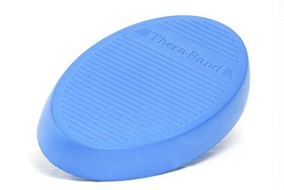 TheraBand Stability Trainer Pad, Intermediate Level Blue Foam Pad, Balance Trainer & Wobble Cushion for Balance & Core Strengthening, Rehabilitation, & Physical Therapy, Round Sport Balance Trainer