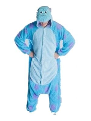 [Sully Monsters Inc Onsie Pyjamas Onesie Fancy Dress Costume Sleepsuit Unisex Mans Womens (Small 150-160cm) by Burlesque] (Burlesque Man Costume)