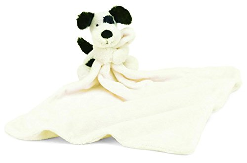 Jellycat Bashful Black and Cream Puppy Baby Security Blanket