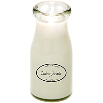 Milk Bottle Jar Candle, Cranberry Amaretto