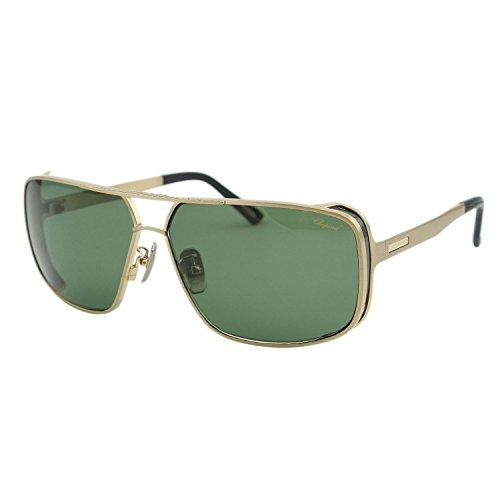Chopard Mille Miglia SCH-A80 Men Gold Titanium Square Polarized Sunglasses - Chopard Miglia Sunglasses Mille