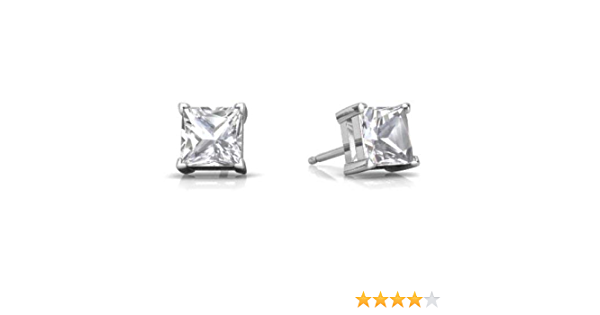 Details about  /14K Yellow Gold White OR Pink OR Red CZ Round Cut Solitaire Stud Earrings