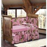 (HiEnd Accents Realtree Oak Camo Crib Set, Pink)