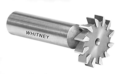 "Whitney Tool 10650 Deep Slotting Cutter with Side Teeth, 5 Degree Rake for Ferrous Material, 1"" X 3/16"""