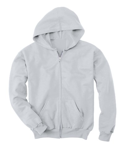 Sweatshirt Zip Ash Full Hoody (Hanes Comfortblend EcoSmart Full-Zip Kids' Hoodie Sweatshirt, Youth XL (18-20), Ash)