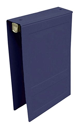 PDC Healthcare CBT19NB Poly Binder, Top Open, 5-Ring, Blank Front, 2'', Navy Blue