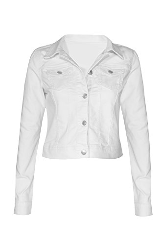 Women's Button Down Long Sleeve Classic Outerwear Denim ()