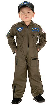 Air Force Fighter Pilot Child Costume Size 4-6 Small - Top Gun Costume Baby