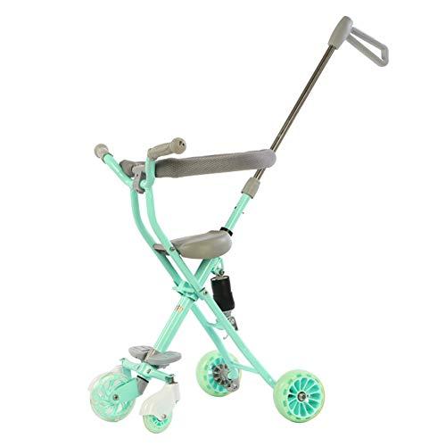 Trolley de los niños, cinco ruedas Baby Doll con bebé 1-6 años 3 triciclo de bebé con sistema de seguridad y...