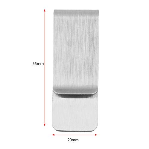 Silvery Fashion Simple Men Women Stainless Steel Money Clip Cash Clamp Holder Note Credit Card Wallet Purse Great Gift Easy Operation