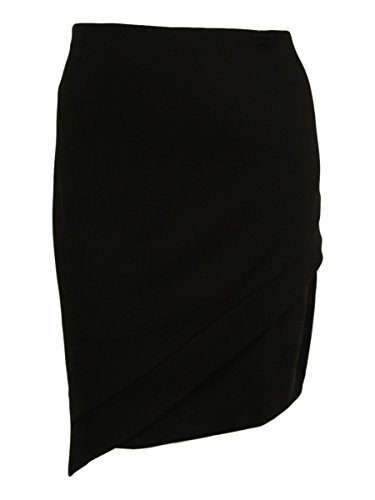 Alfani Womens Plus Matte Jersey Asymmetric Pencil Skirt Black 22W