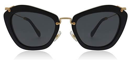 Miu Miu MU10NS Sunglasses-1AB/1A1 Black (Gray)-55mm (Sunglasses Miu Miu)