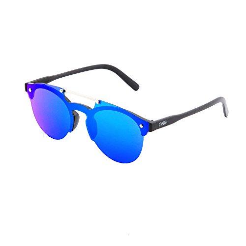 mujer Negro sol hombre Gafas de TWIG Azul degradadas espejo HOKUSAI U550qWAp