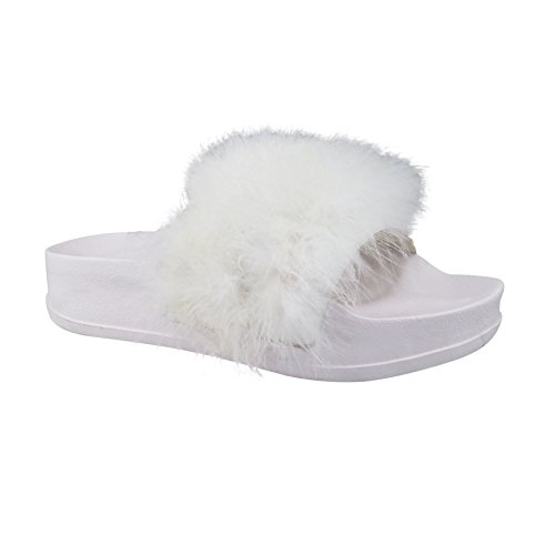 femme Blanc Footwear Sandales Plateforme London qv0tF6HW