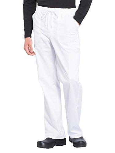 - Cherokee WW Professionals WW190 Men's Tapered Leg Drawstring Cargo Pant White 2XL Tall