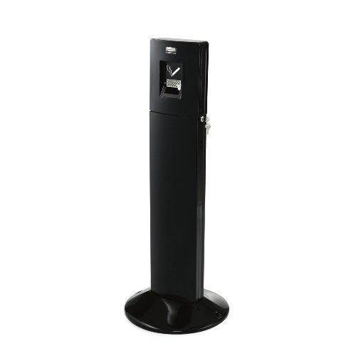 (Rubbermaid Metropolitan Smokers' Station, FGR93400BK, Outdoor Ashtray, Black)
