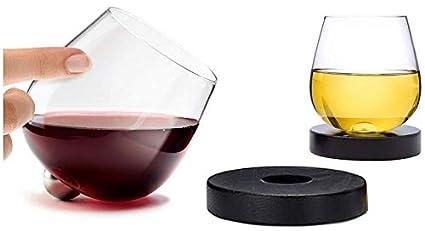 9bccb49eb79 Aura Glass 14oz Stemless Aerating Wine Glasses (Set of 2) - No Spill  Spinning