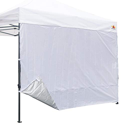 ABCCANOPY 15 Colors 10 Sun Wall for 10 x 10 Straight Leg pop up Canopy, 10 Sidewall kit 1 Panel with Truss Straps, Silver Coated White