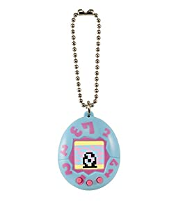 Tamagotchi Toy on a Chain with One Cr2303 Battery Electronic Game (2 Piece), Blue with Pink