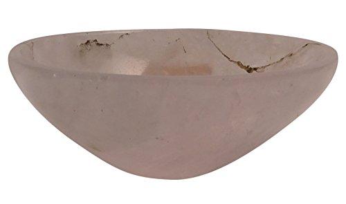 HARMONIZE Hand Carved Rose Quartz Stone Bowl Spiritual Gift Energy Generator Reiki Healing Crystal ()