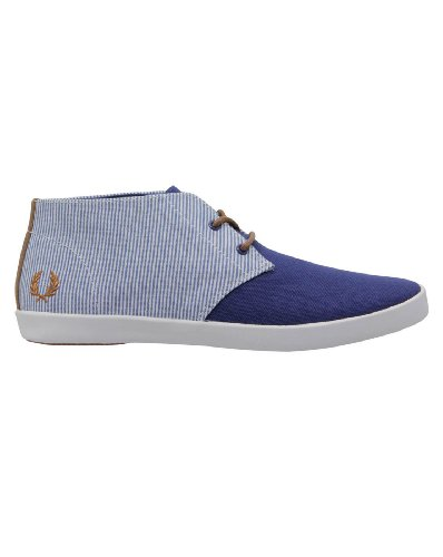 FRED PERRY BYRON MID CANVAS/WOVEN STRIPE Azul
