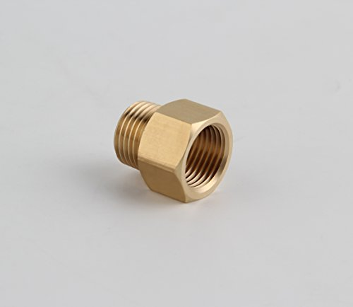 G 1/2 Female Thread to US 1/2 NPT Female Thread Pipe Fitting Converter Adapter, Solid (Pipe Converter)