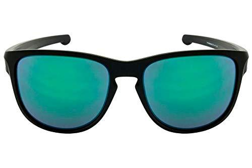 91f224122 Oakley SLIVER R OO9342L 934205 Preto Lente Espelhada Verde Jade Iridium Tam  57