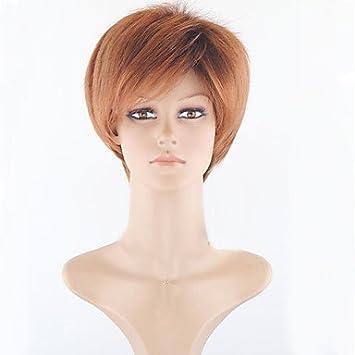 GSP-peluca sintética de color marrón claro para las mujeres pelucas baratas pelucas cortas de