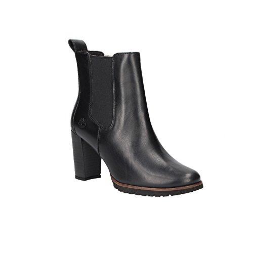 Eurovintage Black Timberland Leslie Anne 15 Boots Women's Chelsea Jet Black w8Bvx