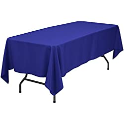 Remedios 70 x 120-inch Rectangle Polyester Tablecloth Table Cover - Wedding Restaurant Party Banquet Decoration, Royal Blue