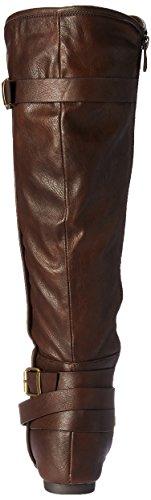 Knee Akris Brown Polyurethane Women's Boot DREAM PAIRS High qftw4B