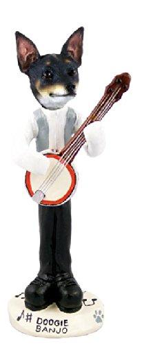 Rat Terrier Banjo Doogie Collectable Figurine - Terrier Rat Figurine