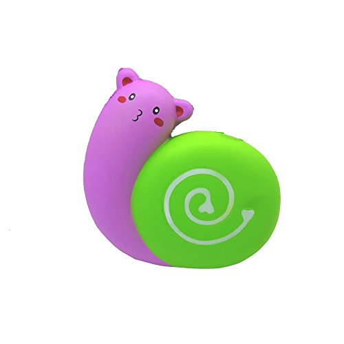 12cm Squishy Jumbo Cute Snail Toy Slow Rising Cream Squeeze Scented Cure Stress Toys (Hot Pink)