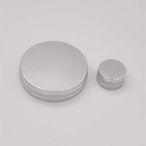 Aluminiumlegierung Volumen Multimedia Knopf Kreis Ring Rahmen Abdeckung Aufkleber Dekoration Trim Für Mazda 3 Axela 2020 Silver Auto