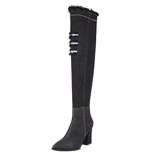 Libre schwarz Moda De Al 2 Ropa Zapatos Altas Mujer Invierno Plataformas  Botas Aire Desgastadas zCgxFOwOq bc71014ec9029