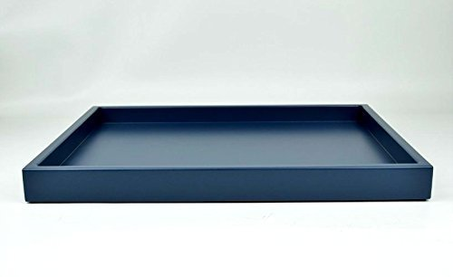 Navy Blue Large Ottoman Tray