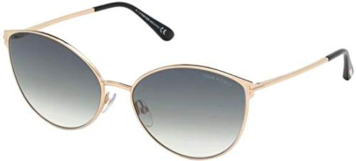 Sunglasses Tom Ford FT 0654 Zeila 28B shiny rose gold/gradient smoke