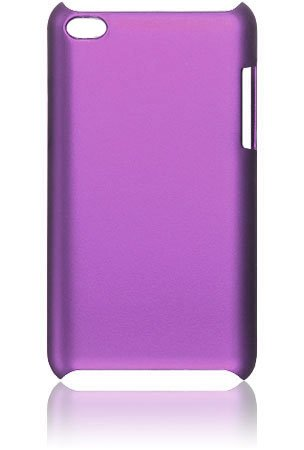 Premium Rubberized Hard Crystal Case Cover for Apple iPod Touch 4G, 4th Generation, 4th Gen - Purple Seamless Rear Case Only
