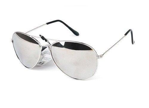 Qwin - Gafas de sol, diseño de aviador, montura plateada y cristales con efecto espejo: Amazon.es: Ropa y accesorios